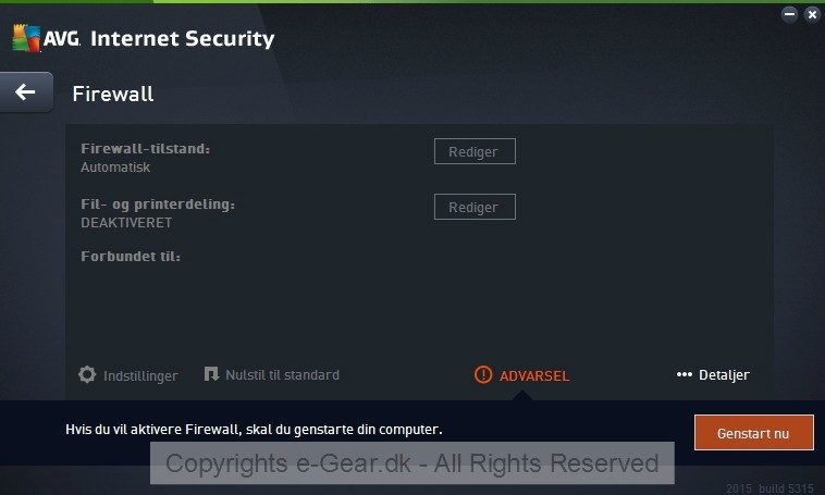 Screenshot af AVG Internet Security