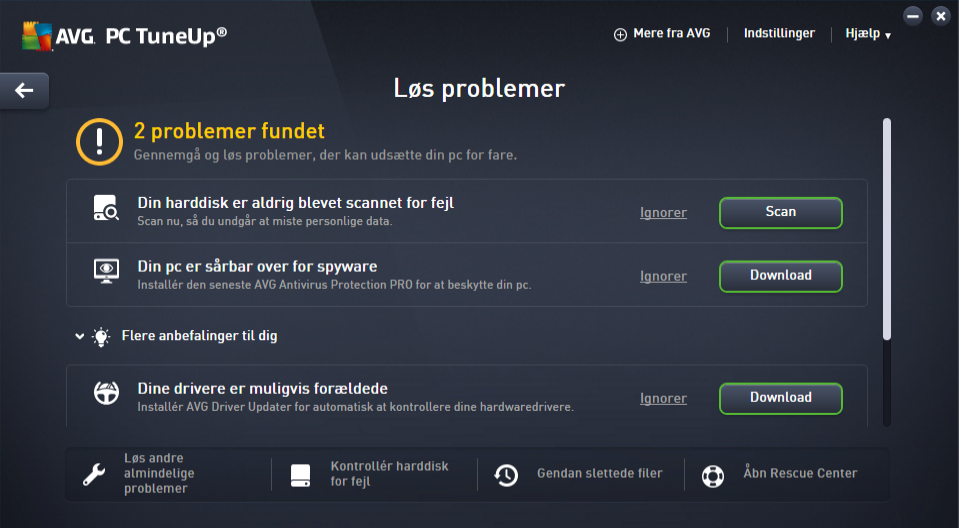 Download AVG PC Tuneup (dansk) gratis her - DLC.dk