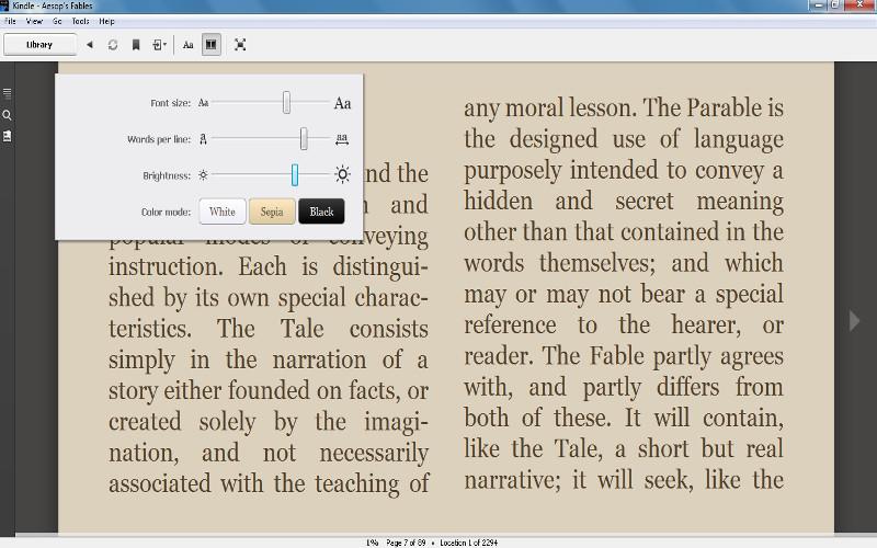 Screenshot af Kindle for PC
