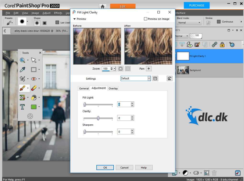 Screenshot af PaintShop Pro