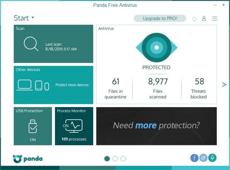 Screenshot af Panda Free Antivirus