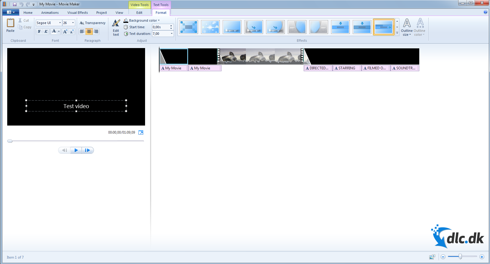 Screenshot af Windows Live Movie Maker