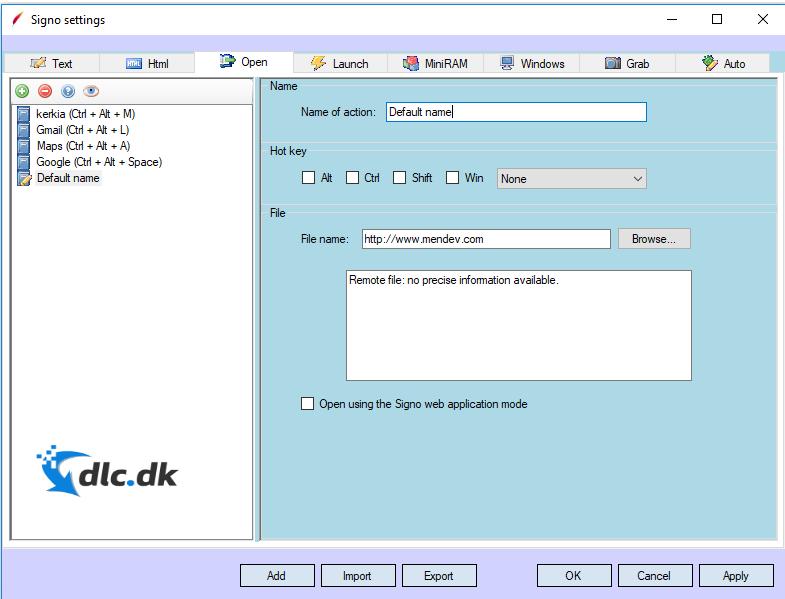 Screenshot af Signo