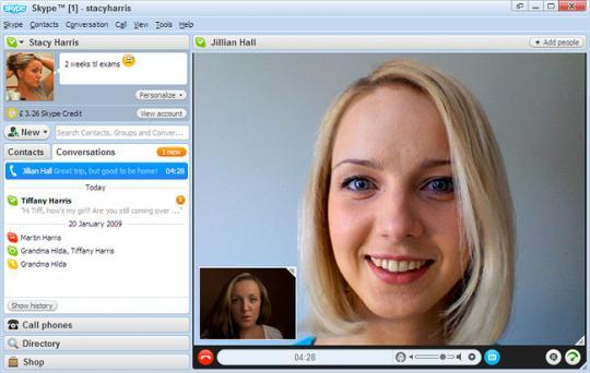 Screenshot af Skype