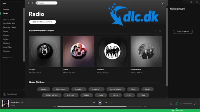 Screenshot af Spotify