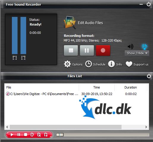 Screenshot af Free Sound Recorder