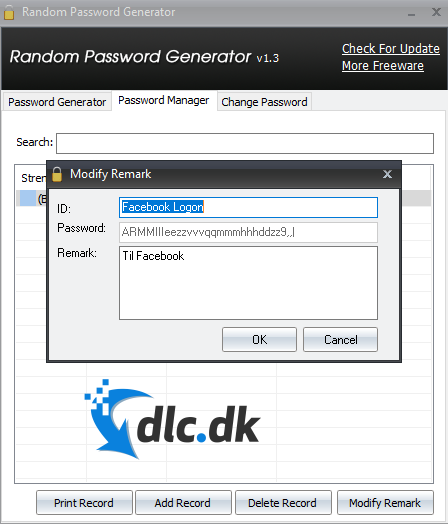 Screenshot af Random Password Generator