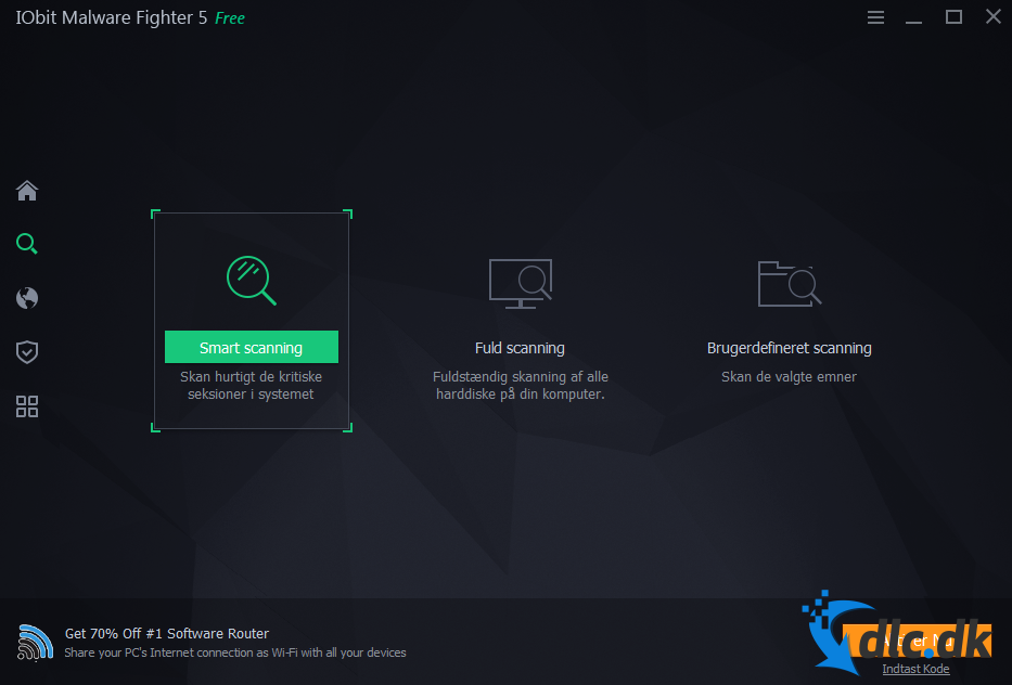 Screenshot af IObit Malware Fighter Free