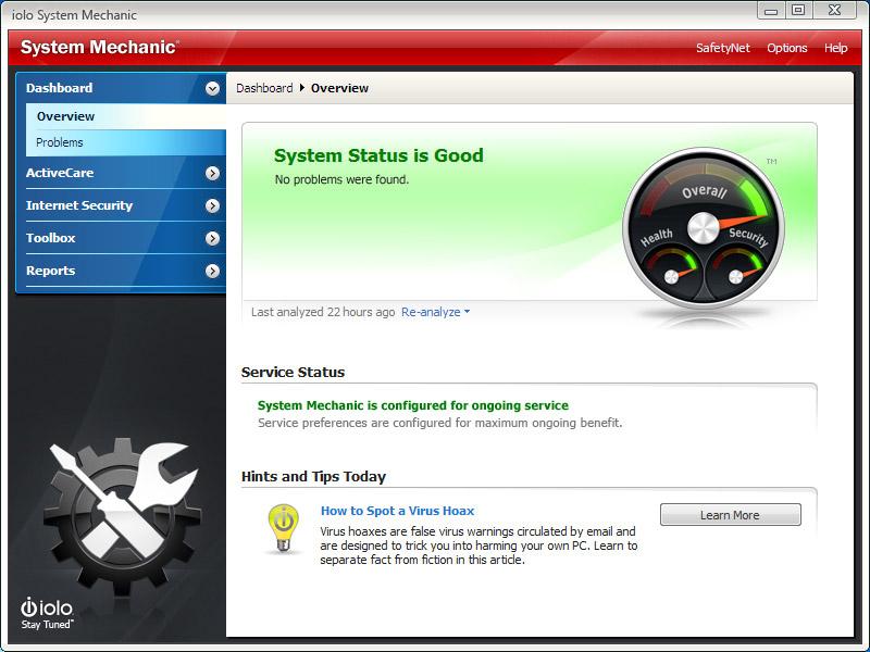 Screenshot af System Mechanic