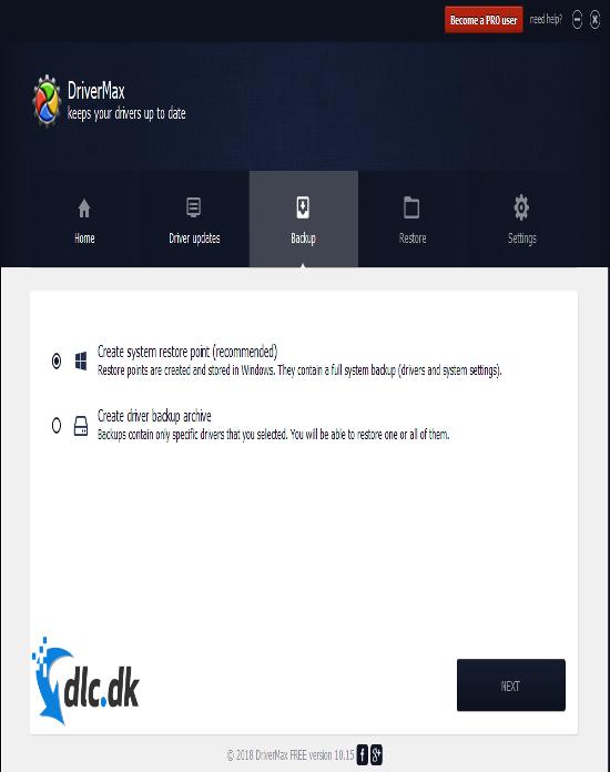 Screenshot af DriverMax