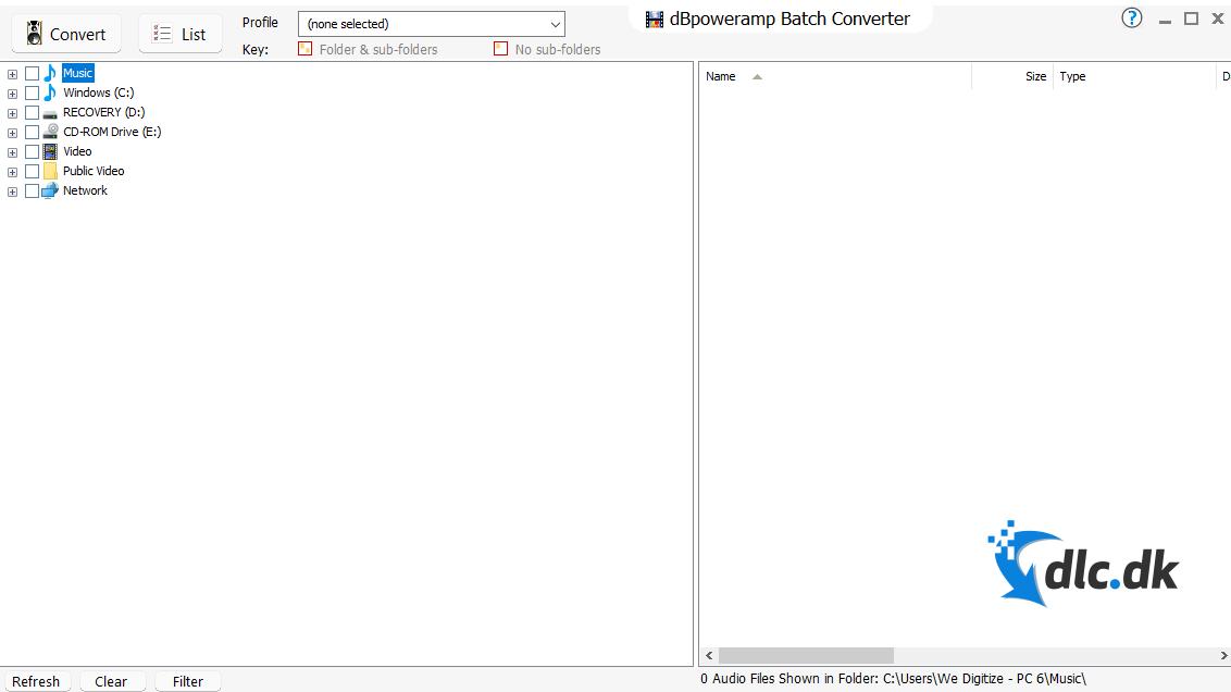 Screenshot af dBpowerAmp Music Converter