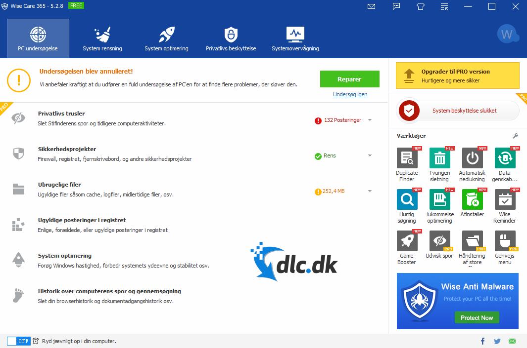 Screenshot af Wise Care 365 Pro