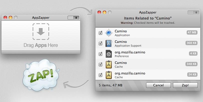 Screenshot af AppZapper