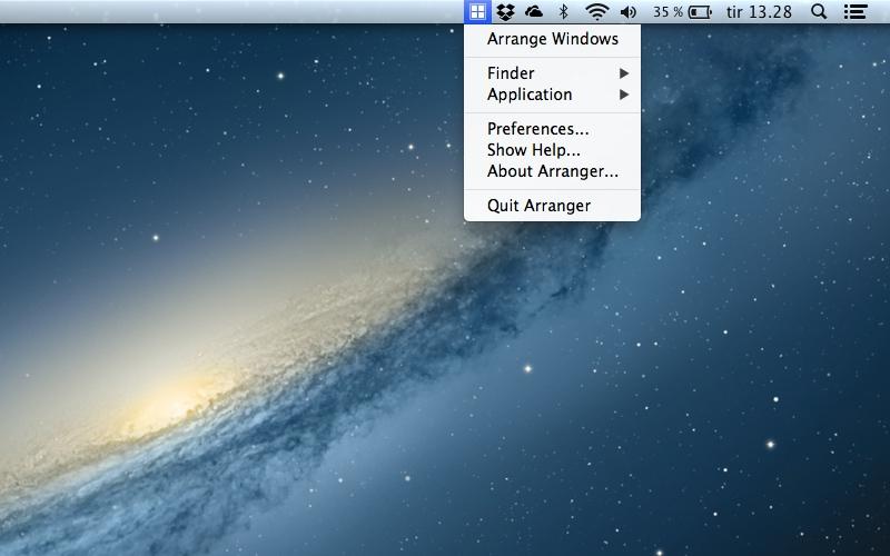 Screenshot af Arranger til Mac