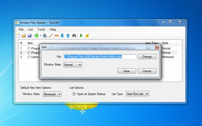 Screenshot af Instant File Opener