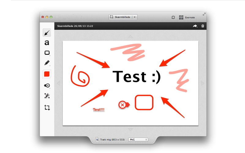 Screenshot af Skitch til Mac