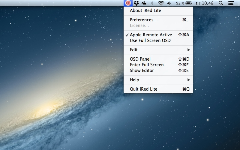 Screenshot af iRed Lite til Mac