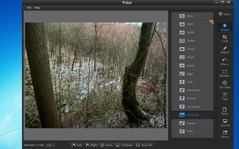 Screenshot af Fotor
