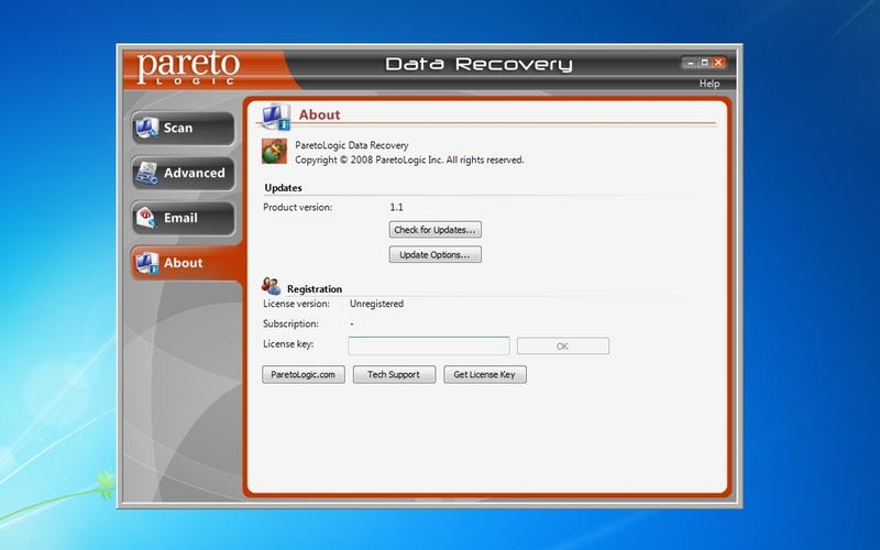 Screenshot af Data Recovery Pro
