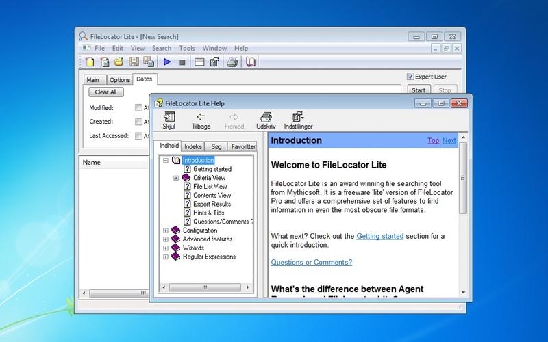 Screenshot af FileLocator Lite (64-bit)
