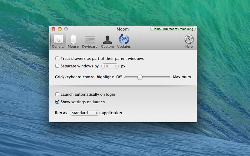 Screenshot af Moom til Mac