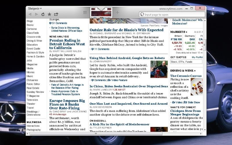 Screenshot af Sleipnir til Mac