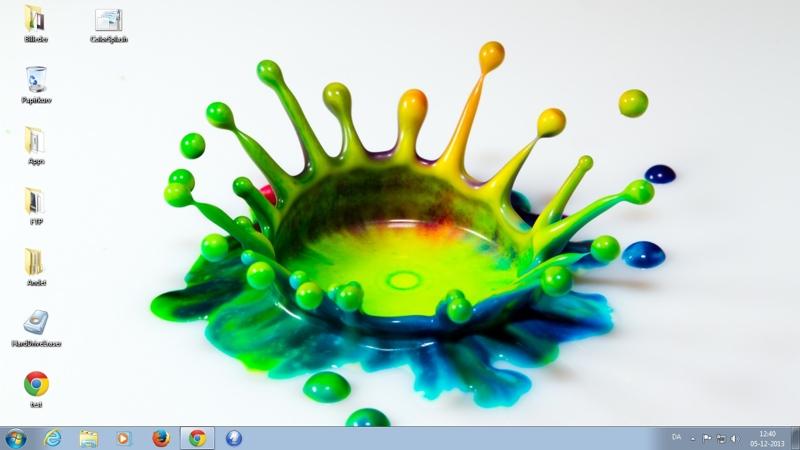 Screenshot af Farvesprøjt-tema