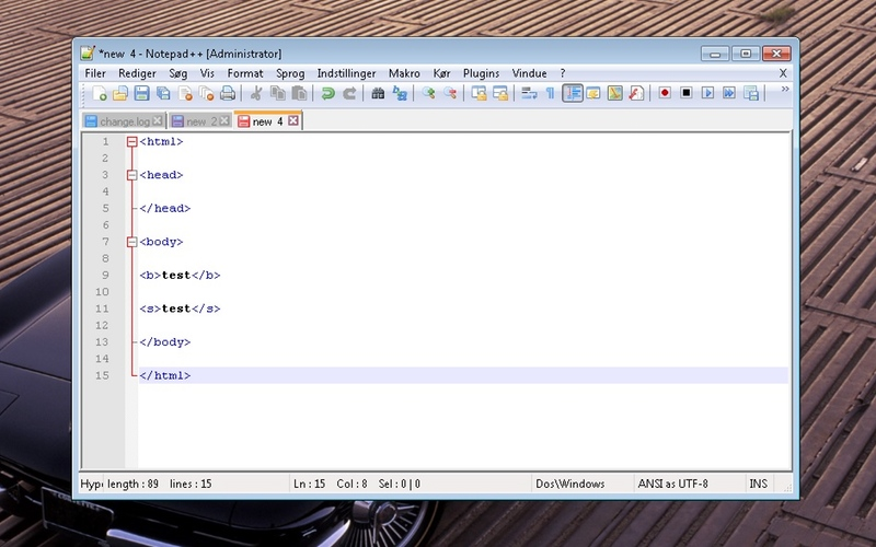 Screenshot af Notepad++