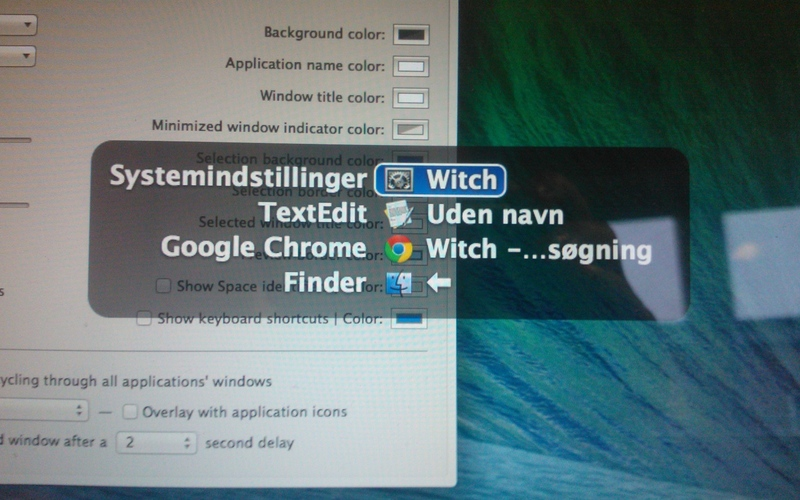 Screenshot af Witch til Mac
