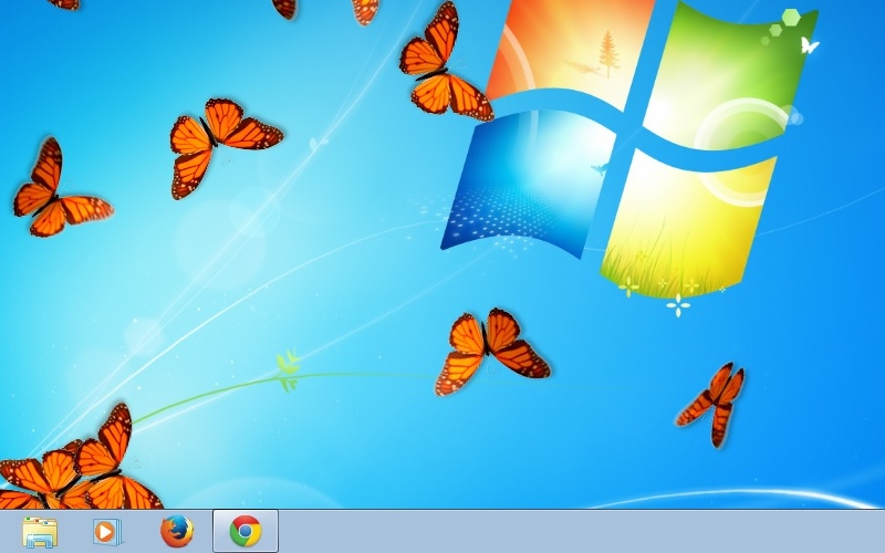 Screenshot af Butterfly On Desktop