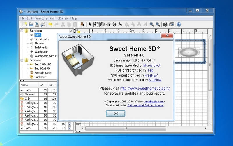 Screenshot af Sweet Home 3D til Mac