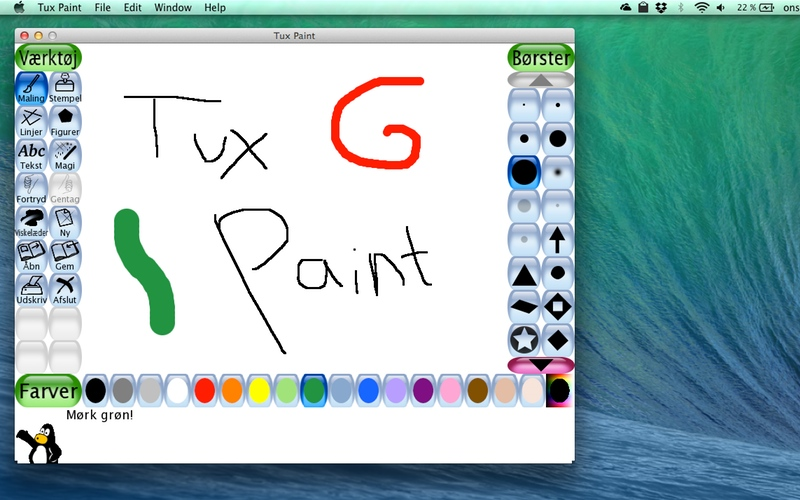 Screenshot af Tux Paint til Mac