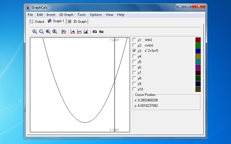 Screenshot af GraphCalc