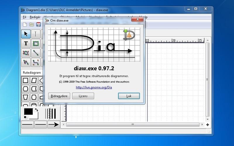 Screenshot af Dia til Mac