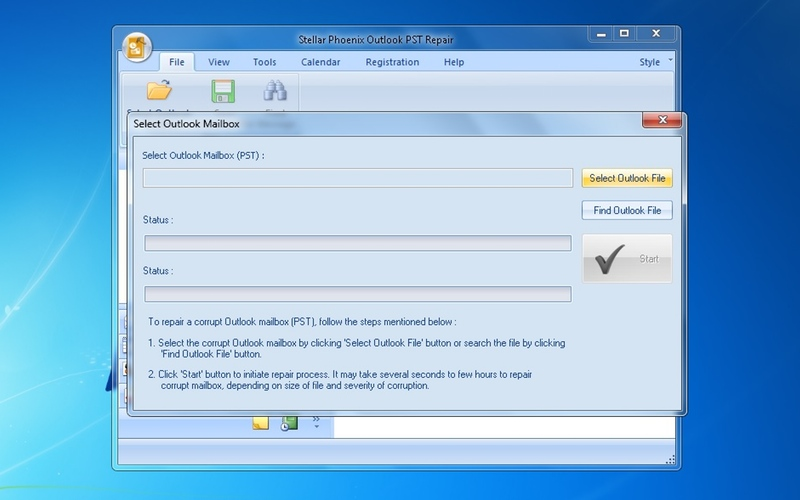Screenshot af Stellar Phoenix Outlook PST Repair
