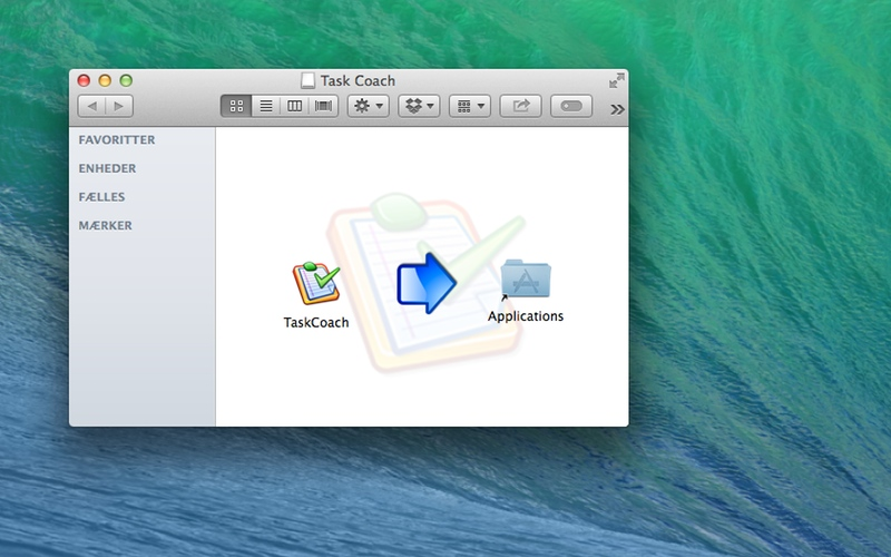 Screenshot af Task Coach til Mac
