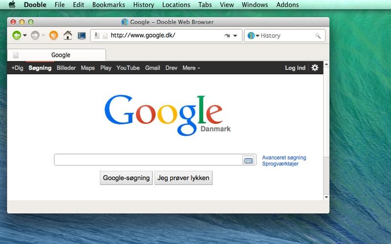 Screenshot af Dooble Web Browser til Mac