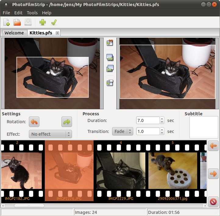 Screenshot af PhotoFilmStrip