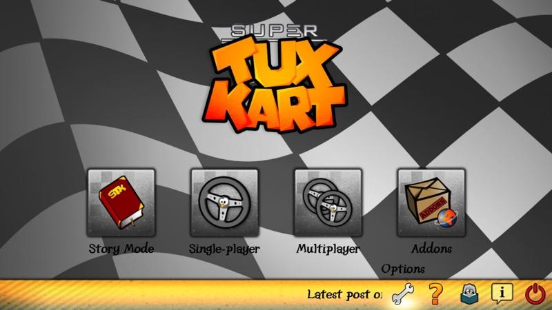 Screenshot af SuperTuxKart