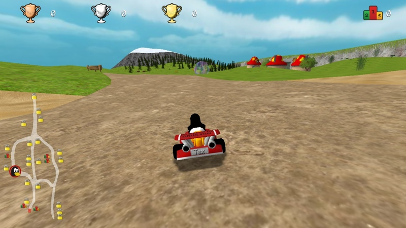 Screenshot af SuperTuxKart