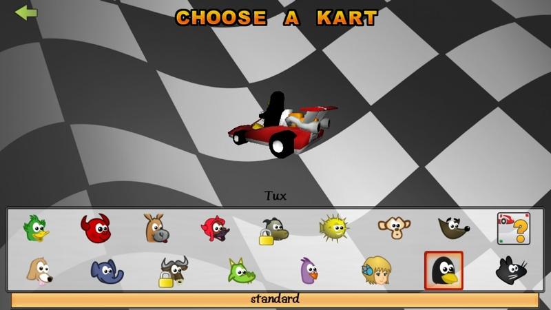 Screenshot af SuperTuxKart til Mac