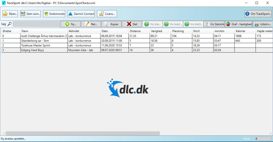Screenshot af TrackSport