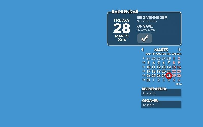 Screenshot af Rainlendar Lite (64-bit)