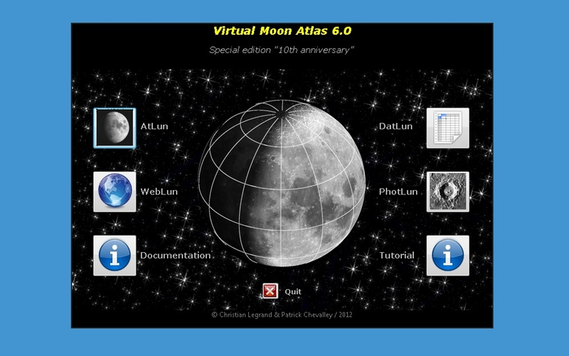 Screenshot af Virtual Moon Atlas