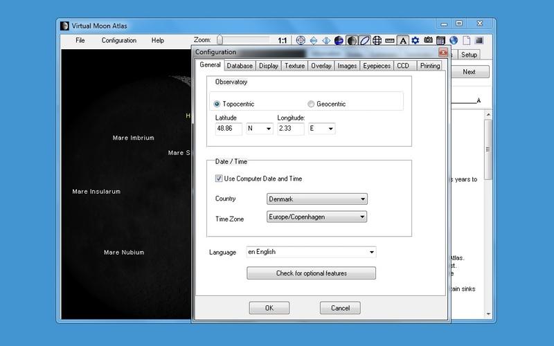 Screenshot af Virtual Moon Atlas til Mac