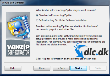 Screenshot af WinZip Self-Extractor