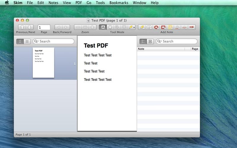 Screenshot af Skim til Mac