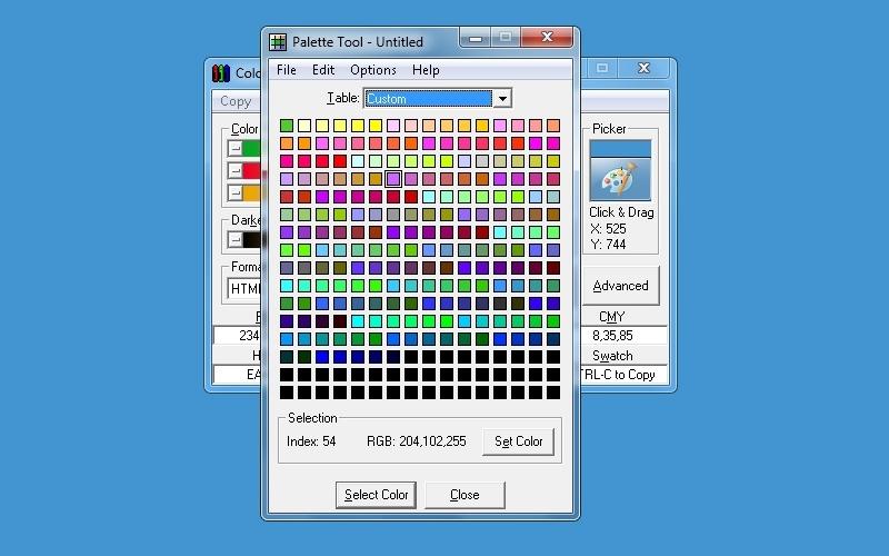 Screenshot af Color Selector