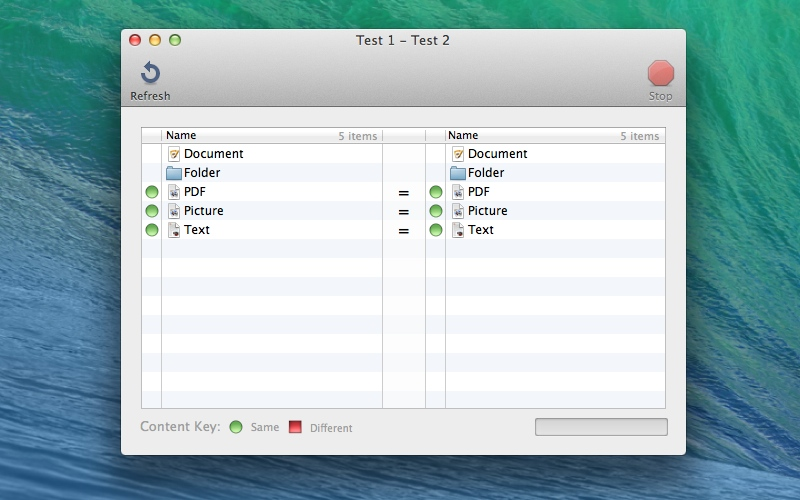 Screenshot af Juxtapose Folders til Mac