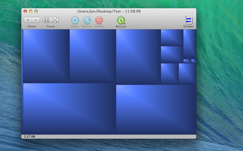 Screenshot af GrandPerspective til Mac